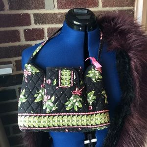 Vera Bradley Dewdrop bag & wallet EUC